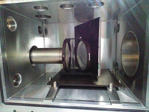 Прототип детектора разработанный в ИЯФ СО РАН представляет собой монитор со сцинтилляционной пленкой. Фотография Г